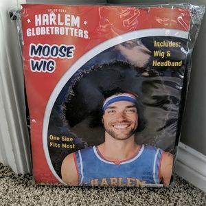 Harlem Globetrotters wig and headband